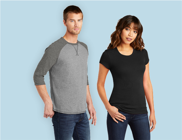 men's and ladies t-shirts